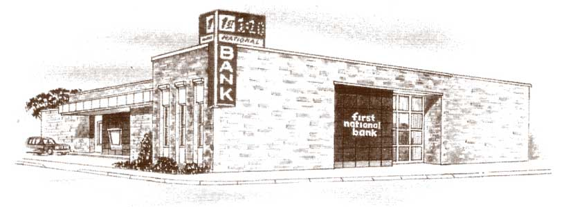 vintage photo of branch building